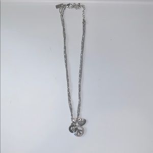 A 4 charmed silver necklace